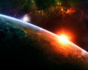Earth-Sun-galaxies-outer-space-planets-stars-sunrise-sunset
